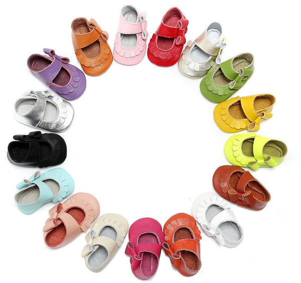 Maryjane Bow Moccs in 17 Colours