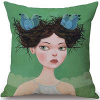 16 styles of Bird and Feather Pillows