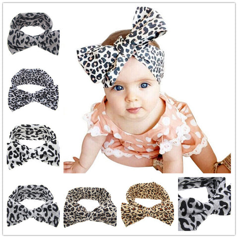 Leopard Big Bow Headband