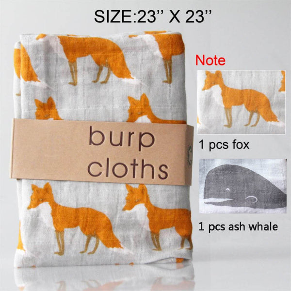 Muslin Burp Cloths in 12 Different Sets