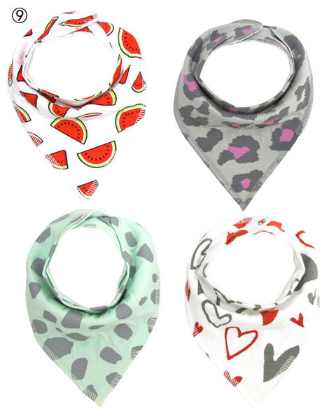 4 Piece Bib Gift Set 15 Styles