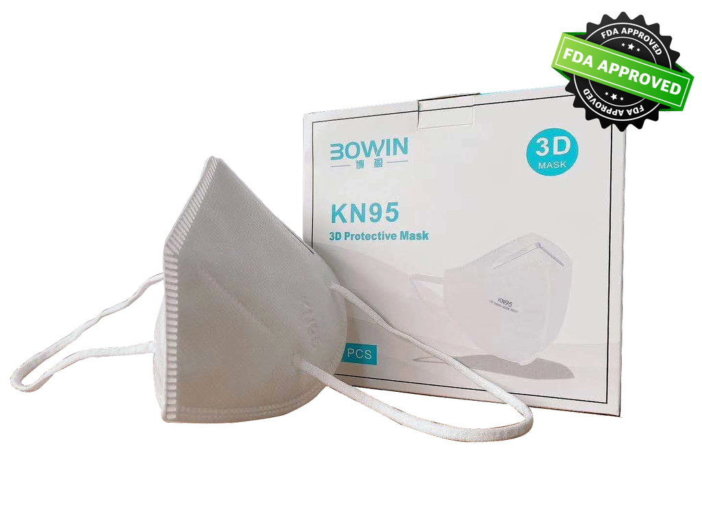 KN95 3D Protective Face Mask - 5-Ply Breathable Protective Filter -  Outdoor Anti-Dust Mask - FDA Registered