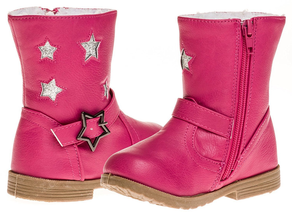 Sara Z Toddler Girls Boot With Star Buckle (See More Colors & Sizes)