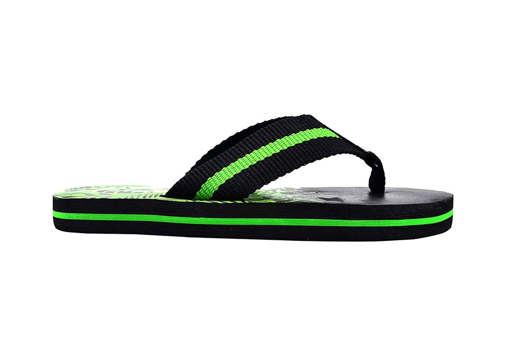 Revo Boys' Flip Flop Little Kid Striped Thong Sandal with Printed Footbed