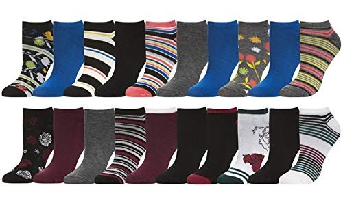 Women's Assorted Patterns Low-Cut Socks (10- or 20-Pairs)