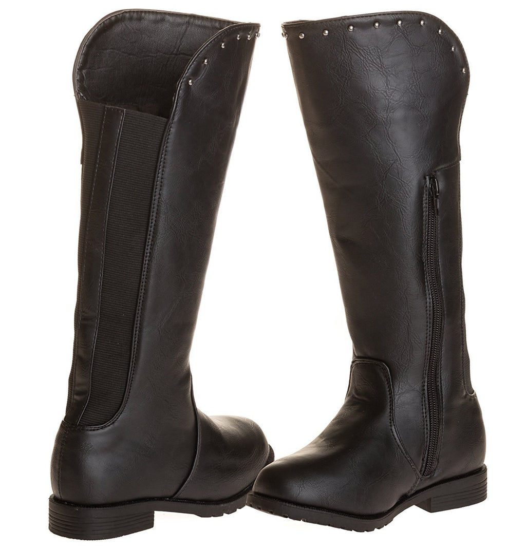 Sara Z Girls Studded Riding Boot with Elastic Back (See More Colors & Sizes)