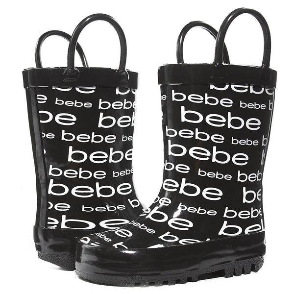 bebe Toddler Girls Printed High Cut Puddle Proof Rain Boots (See More Colors Sizes)