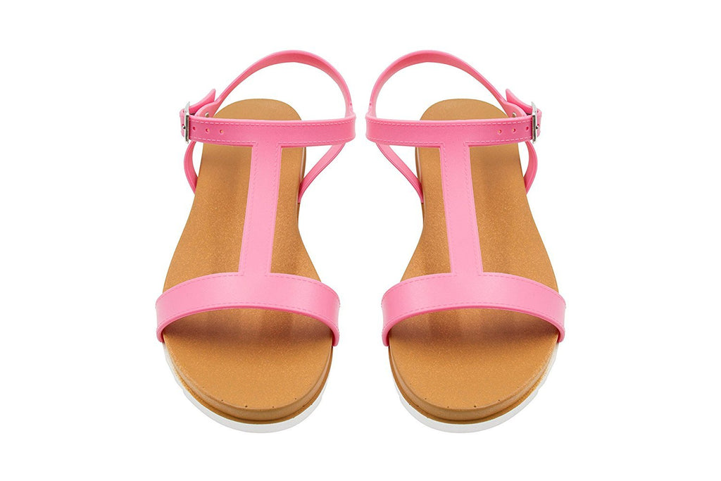 Sara Z Ladies PCU Sandal with Side Buckle