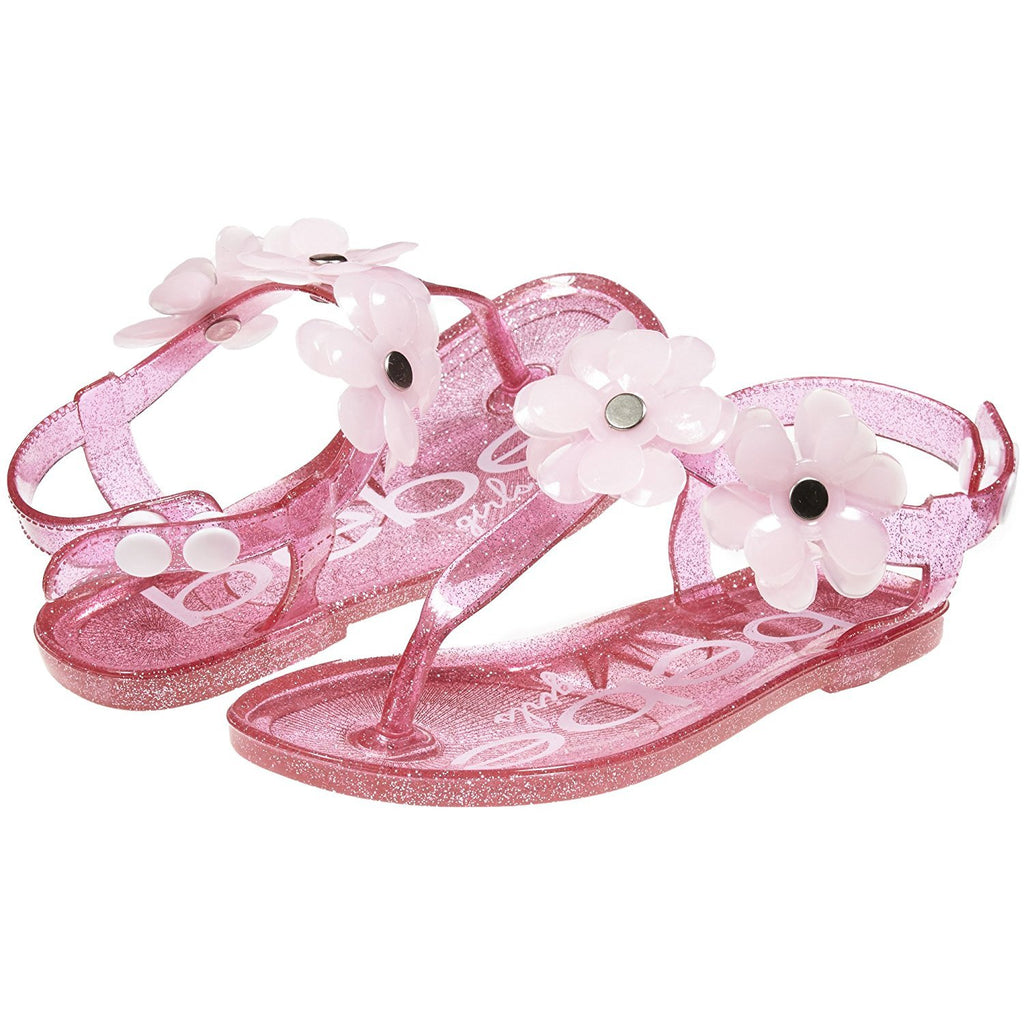 bebe Toddler Girls Jelly Sandals with Flowers