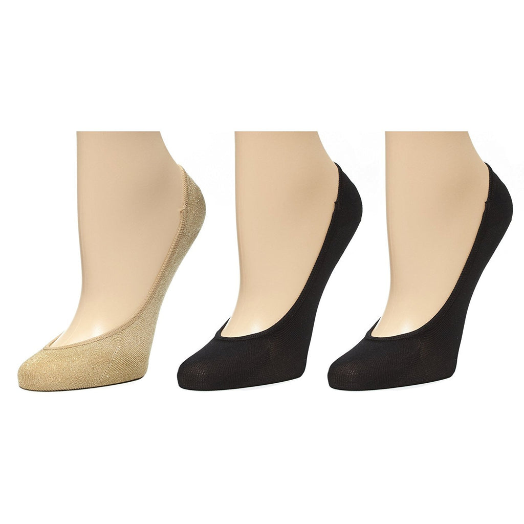Marilyn Monroe Womens Ladies 3Pack Lurex And Microfiber Footliner Socks Size 9-11 (See More Colors)