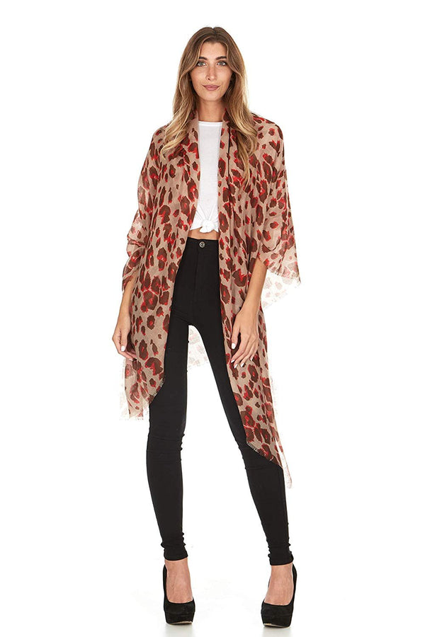 Laundry By Shelli Segal Women's Animal Print Wrap Scarf Shawl Soft Warm Large Fall Winter Fashion Scarves for Ladies