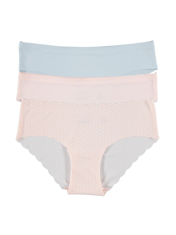 Laundry by Shelli Segal Women's Bikini Brazilian Underwear Panty Pack, Soft, Comfortable, Stretch Panties
