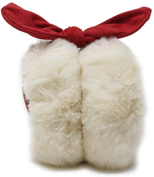 Laundry by Shelli Segal Womens Faux Fur Microsuede Warm Earmuffs with Bows - Furry Ear Warmers