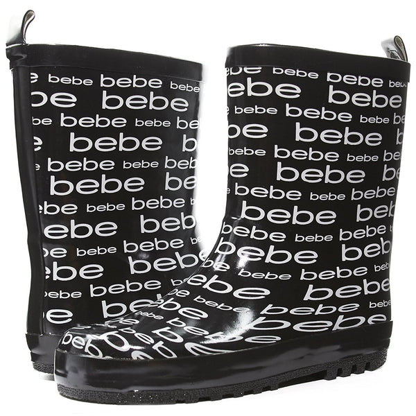 bebe Girls Printed High Cut Puddle Proof Slip On Rain Boots (See More Colors and Sizes)