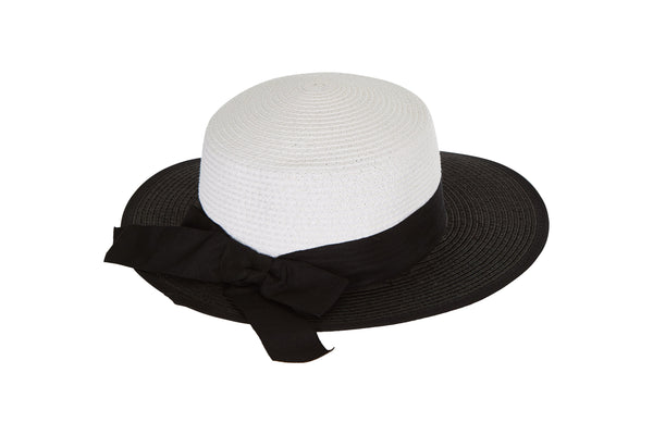 Laundry by Design Women Summer Beach With Back Bow Full Brim Fashion Straw Hat