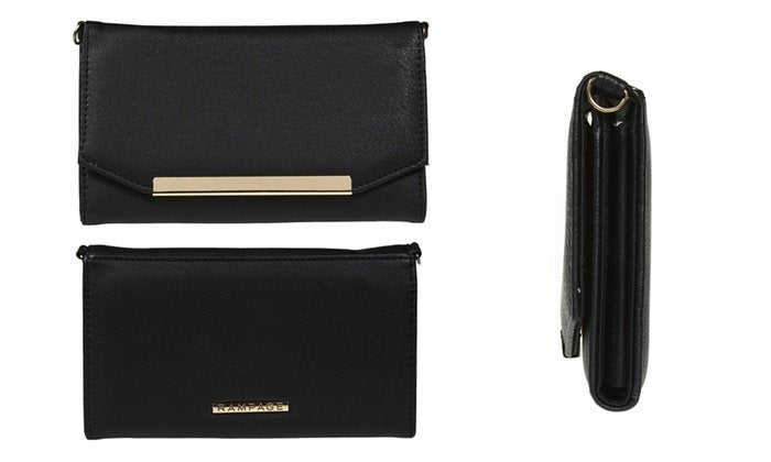 RAMPAGE Wallet with a Crossbody Strap