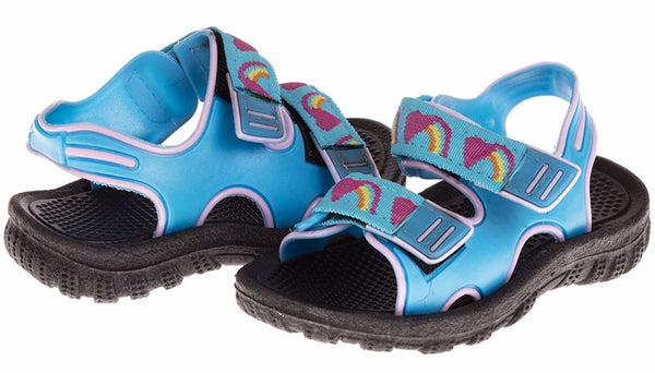 Chatties Toddler Girls Velcro Strap Sandals - Turquoise, Size 11 / 12 (More Colors and Sizes Available)