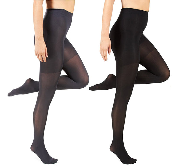 Marilyn Monroe Womens Ladies 2Pack Control Top Footed Opaque Tights (See More Colors and Sizes)
