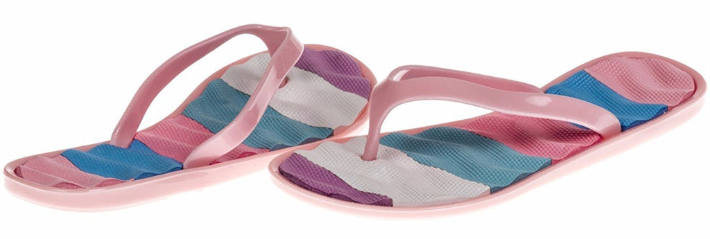 Chatties Girls Jelly Flip Flops - Light Pink, Size 12 / 13 (More Colors and Sizes Available)