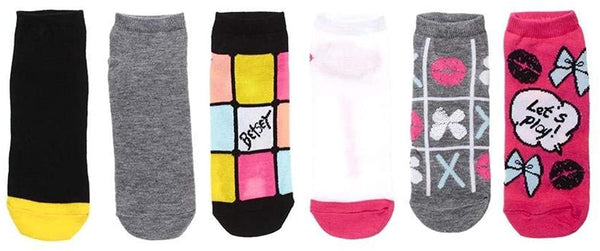 Betsey Johnson Women's No Show Low Cut Socks (6- or 12-Pairs)