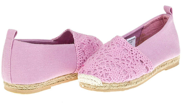 Chatties Toddler Crochet & Canvas Espadrilles (See More Colors/Sizes)