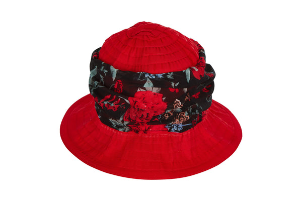 Laundry By Shelli Segal Womens Summer Sun Bucket Hat - Travel Packable Foldable