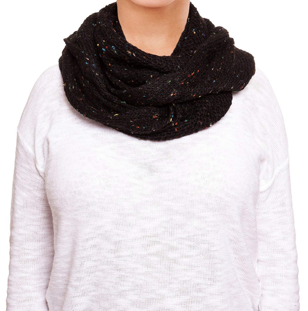 Chatties Fleck Knit Infinity Loop Scarf