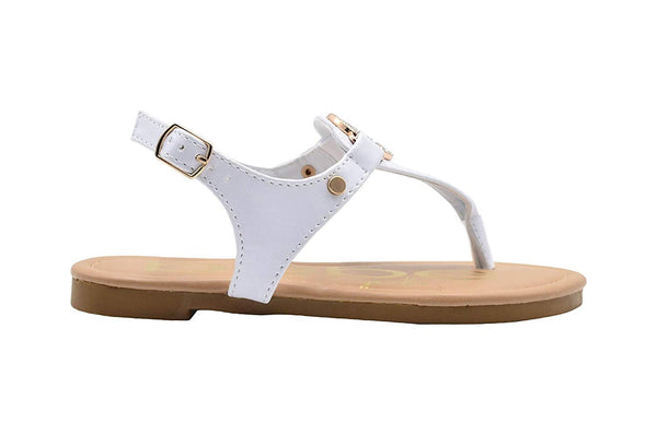 bebe Girls Fashion Sandals Slingback T Strap Thong Summer Flat with Rhinestone