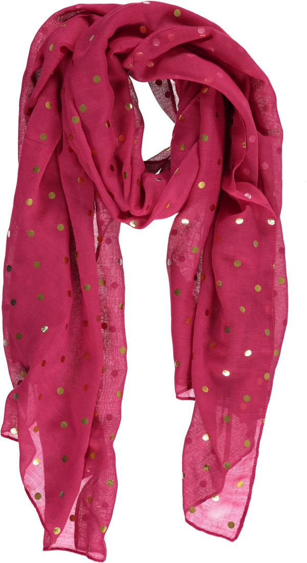 Rampage Women's Fashion Scarves Polka Dot Lightweight Scarf Wrap Shawl