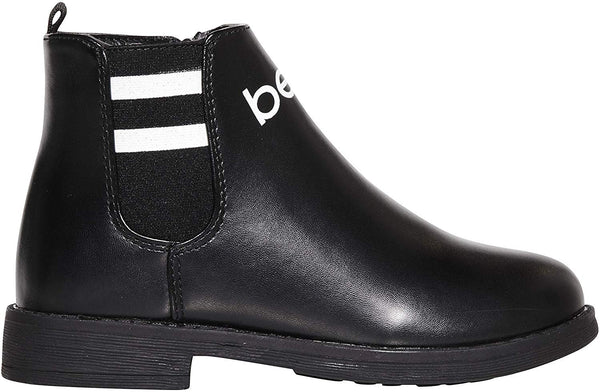 bebe Girls Big Kid Varsity Chelsea Boots Easy Slip-On Short Ankle Fashion PU Shoes