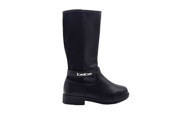 bebe Girls Big Kid Easy Pull-On Tall Riding Boots with Stretch Back Shaft