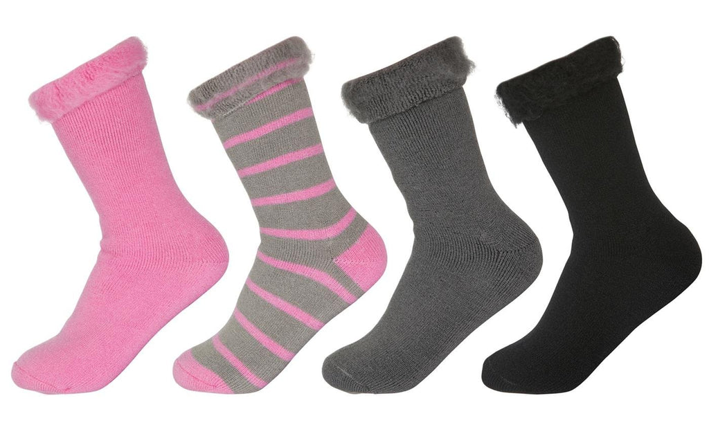 REFLEX Brushed Lined Thermal Heat Socks (2-Pairs)