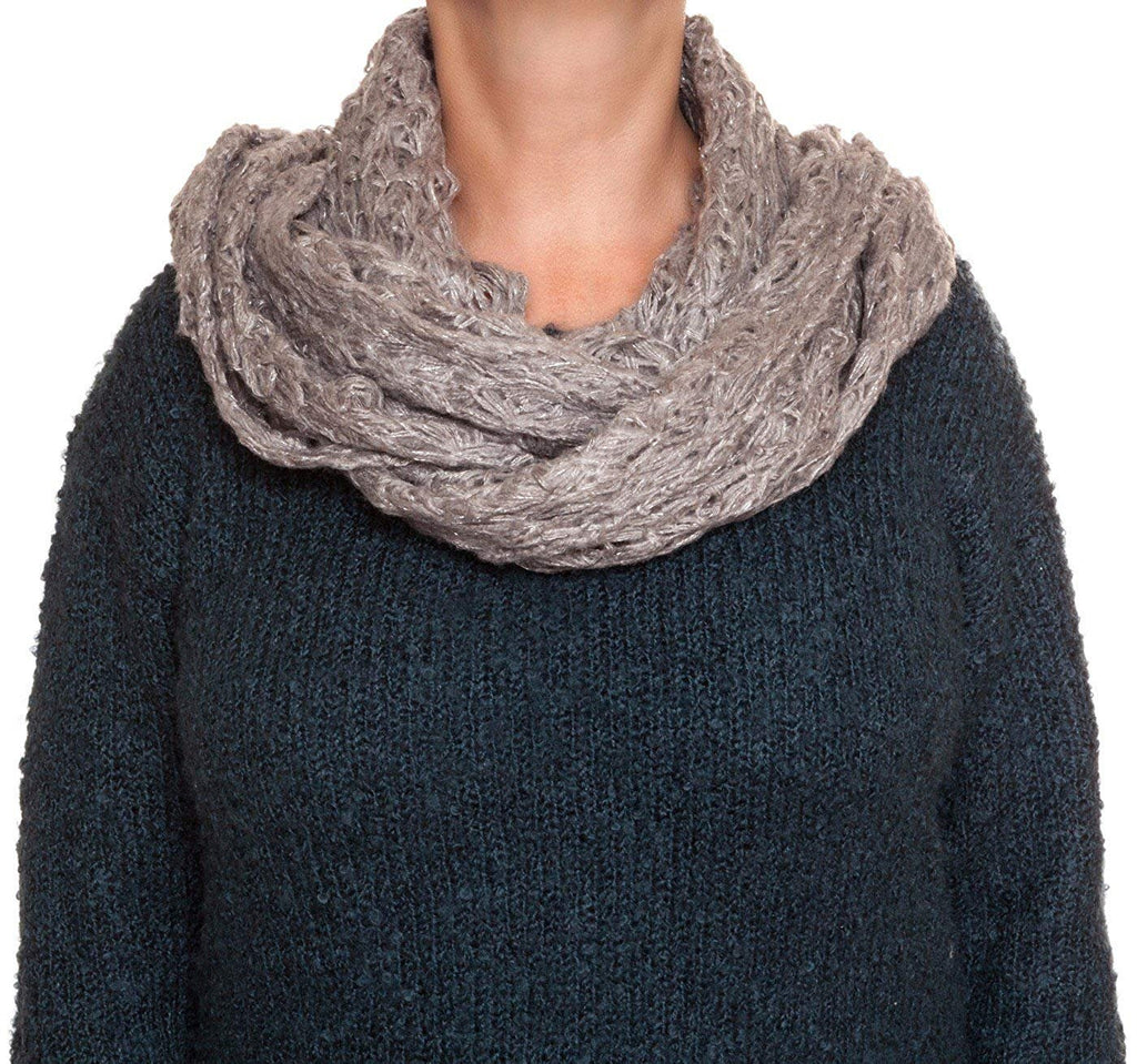 Rampage Lurec Lace Knit Infinity Blanket Wrap Fashion Scarf's»Gray