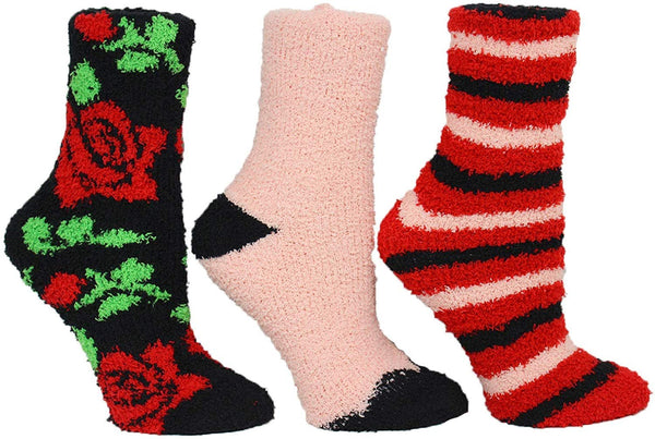 Betsey Johnson Women's Multi Rose and Stripe Cozy Holiday Gift Box Set One Size
