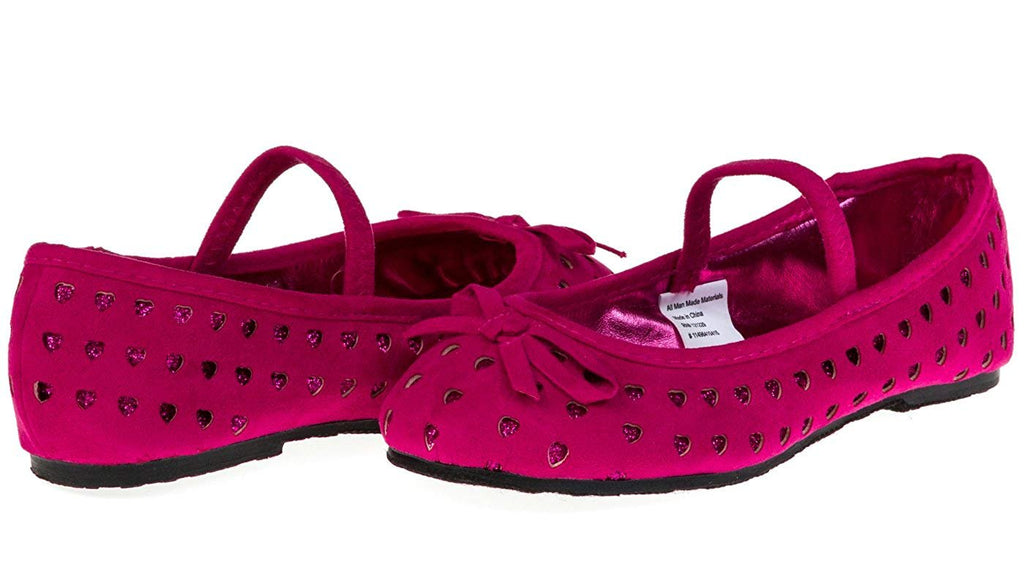 Chatties Toddler Girls Microsuede Ballet Flats Size 9/10 - Purple