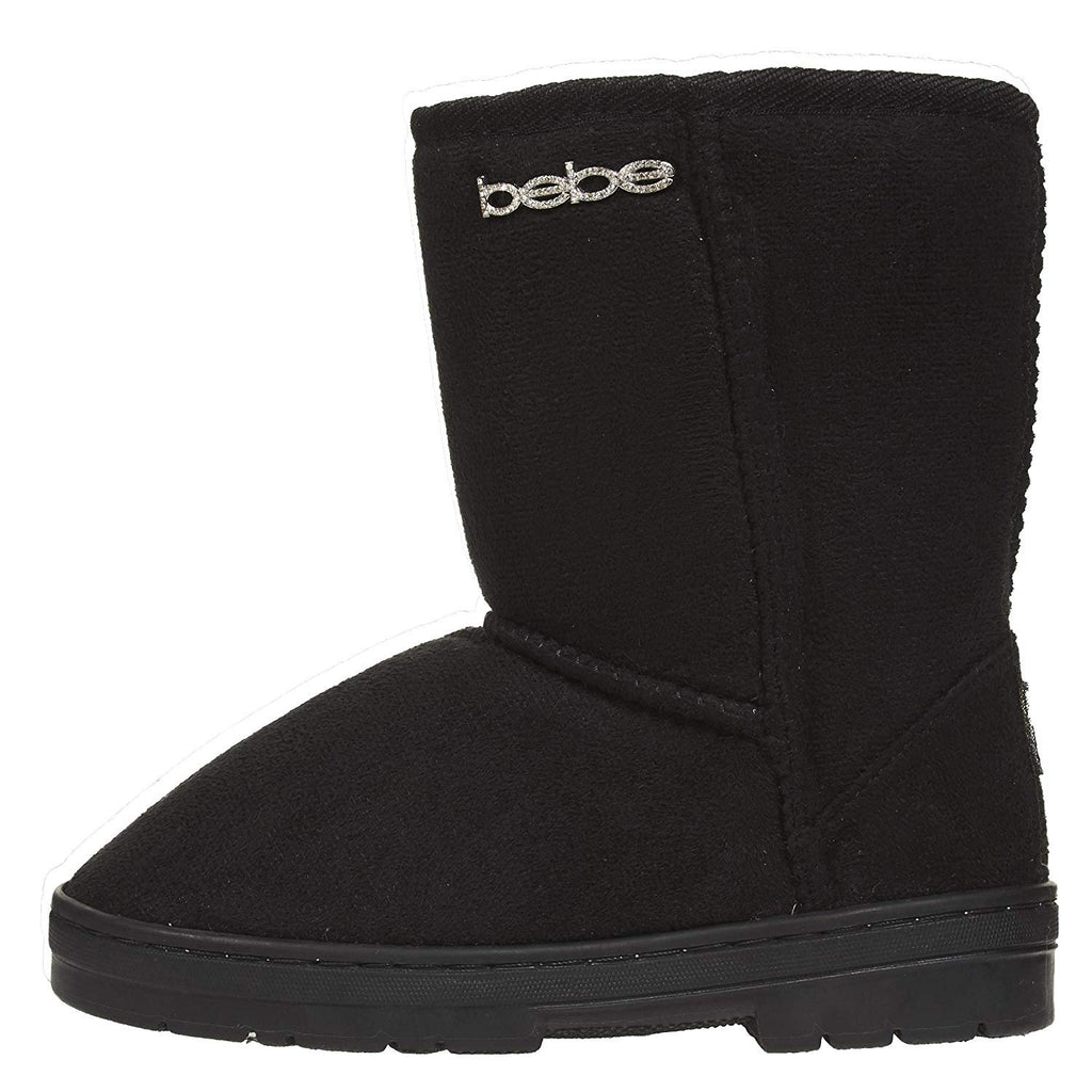 bebe Girls Winter Boots Casual Dress Warm Slip-On Mid-Calf Microsuede Shoes