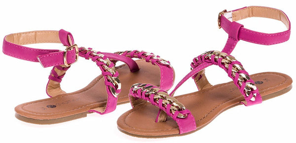 Chatties Ladies Woven Chain Nubuck Sandals