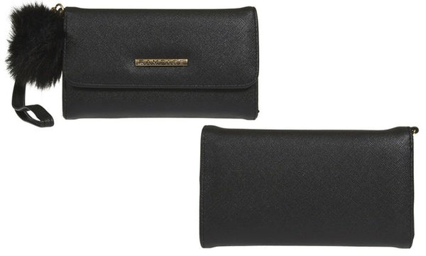 RAMPAGE Wallet With Wristlet and Pom