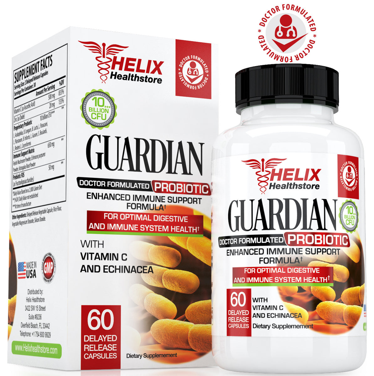 Guardian probiotic supplement to boost immune system health with Vitamin C tablets