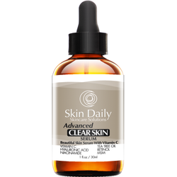 Advanced Clear Skin Serum + Vitamin C, Tea Tree Oil, Niacinamide, Retinol