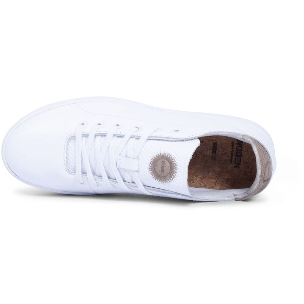 WODEN Simple Leather Sneakers white