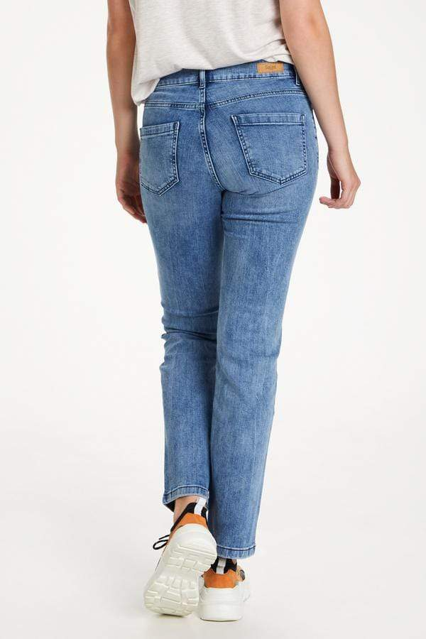 Saint Tropez Mom Fit Jeans Mid Blue