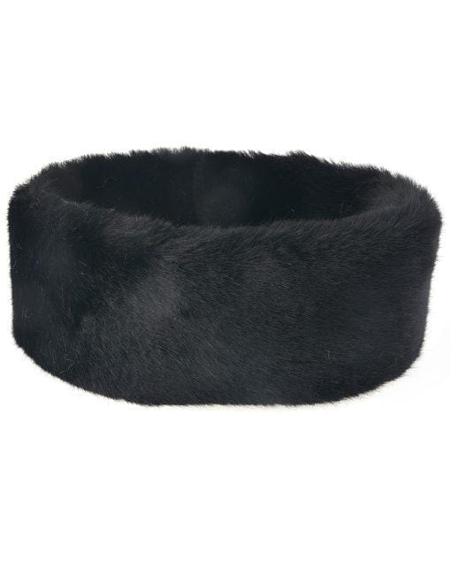 Faux Fur Collar Various Colours Black
