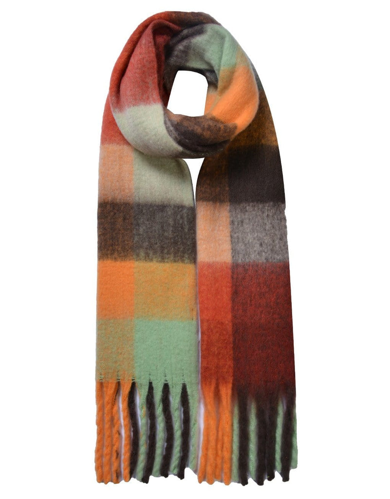 Chunky Large Check Scarf Various Colours