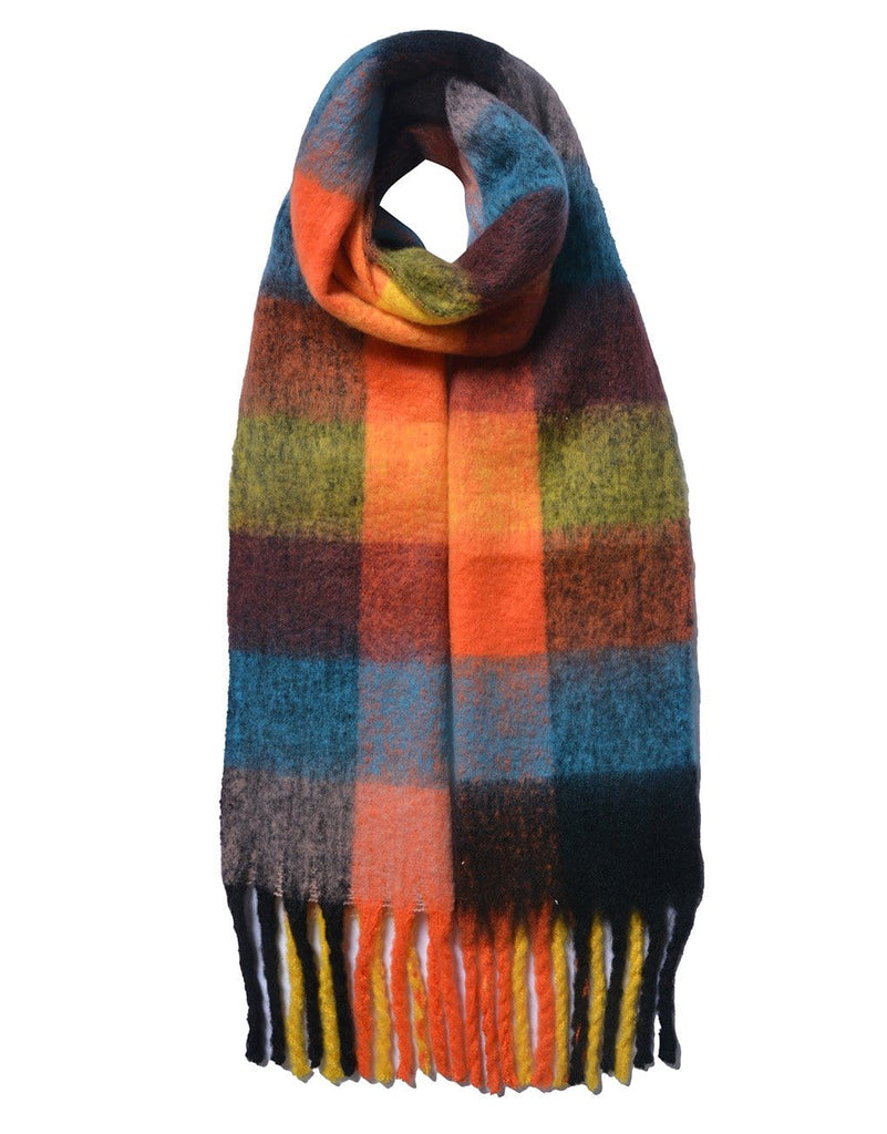 Chunky Large Check Scarf Various Colours Brights