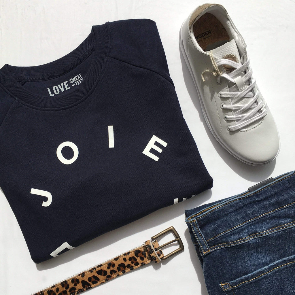 Love Sweat & Tee's Organic Cotton Sweater Navy White