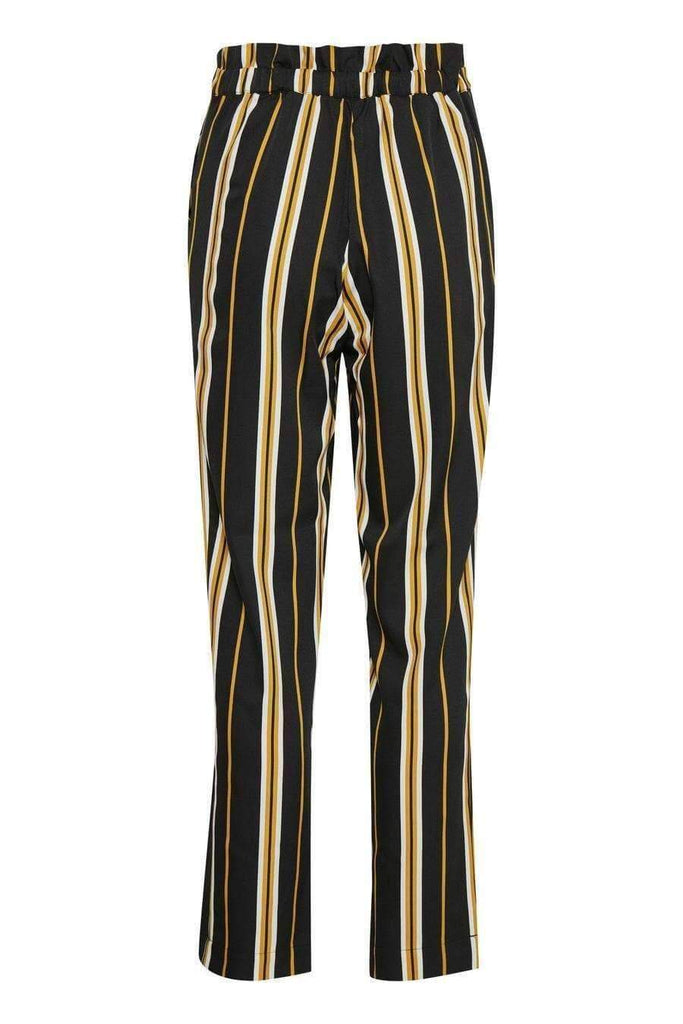 Soaked In Luxury Black Stripe Cropped Trousers
