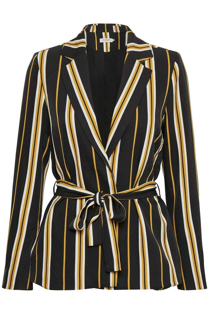 Soaked In Luxury Stripe Black Jacket