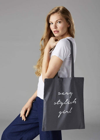 Very Stylish Girl Canvas Tote Bag