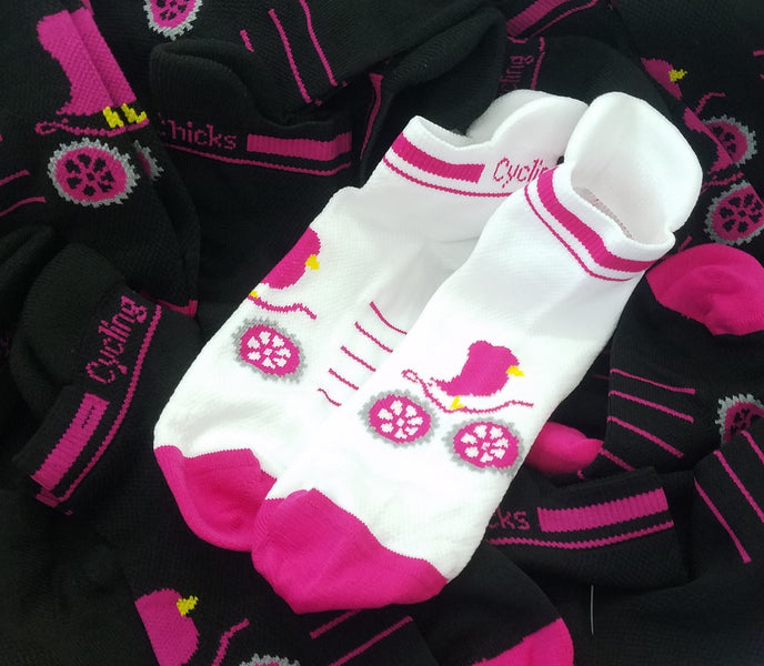 Just In - Cycling Chicks new Shortie Socks with Sole Tab -- $20 for 2 pair